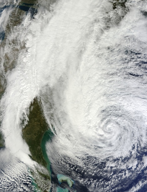 Hurricane Sandy Oct 29 2012 Courtesy of NASA Godard
