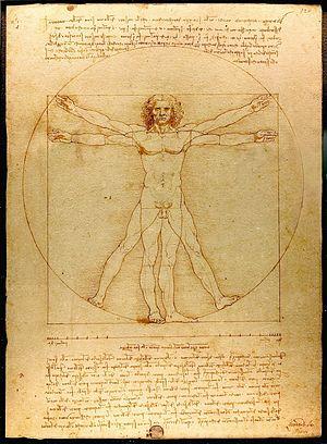 Vitruvian Man, c. 1487, Gallerie dell'Accademia, Venice
