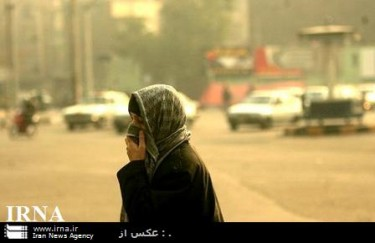 Air pollution on Tehran/Courtesy IRNA