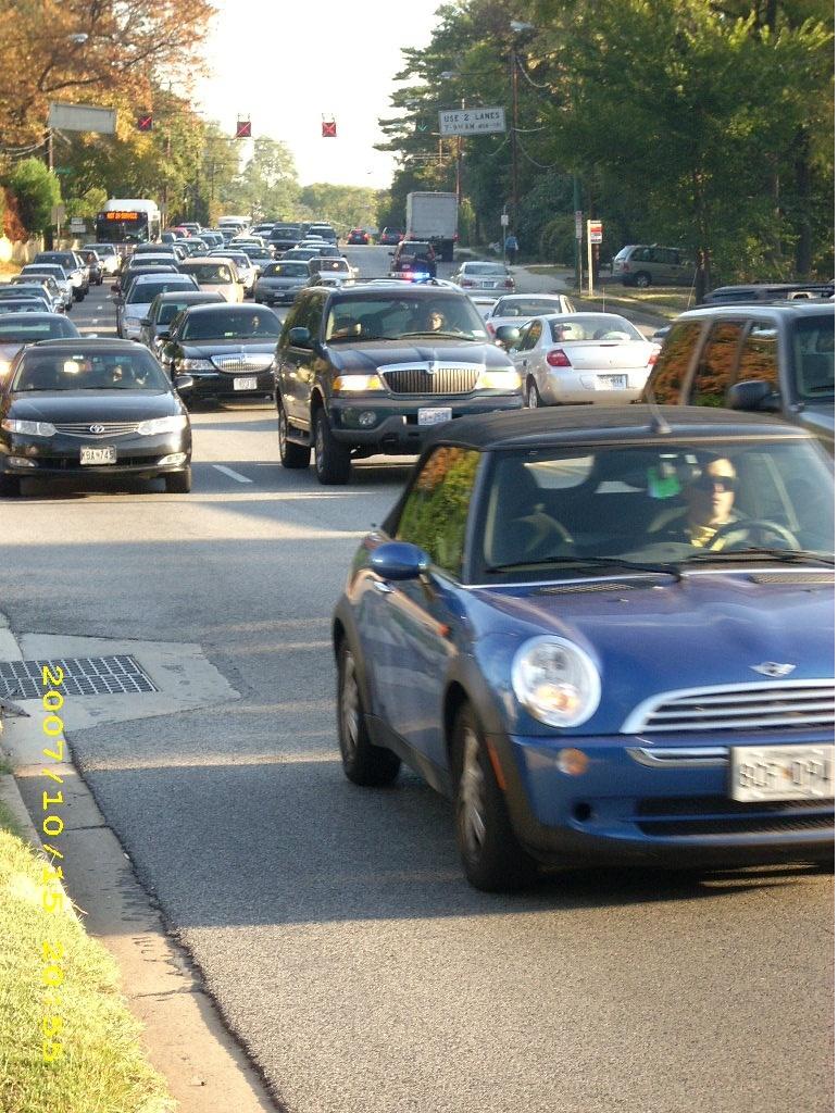A.M. rush hour in DC region