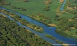 Danube Delta aerial shot. All rights reserved