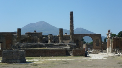 Ruins of Pompeii looking toward the Temple of Jupiter. Photo  © by Kim Traynor