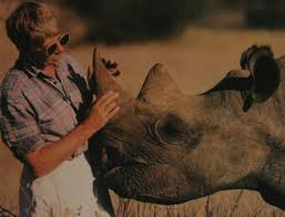 Anna Merz and her rhino friend Courtesy of the Lewa Wildlife Conservancy