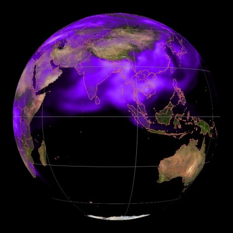 Black carbon shrouds the globe Credit NOAA