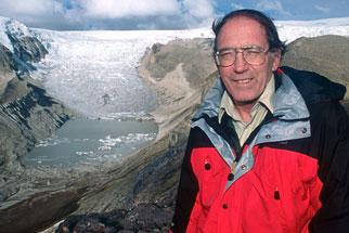 Lonnie Thompson at Qori Kalis Glacier/Courtesy of NOVA Science