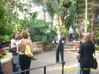 Director Richard Piacentini leads of tour of the Phipps Conservatory & Botanic Garden