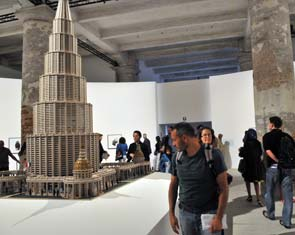 An 11-foot-tall architectural model (The Encyclopedic Palace) by Marino Auriti, a self-taught Italian-American artist