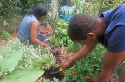 Building community gardens at the Pittsburgh Children's Museum