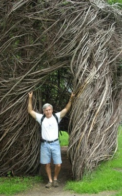 Stickwork by Patrick Dougherty.  Brown University, Providence RI