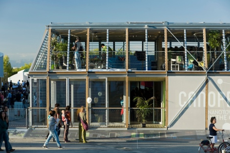 Top prize in 2012: Canopea (Rhone Alpes Team), one of only two two-story entries in the 2012 European Solar Decathlon