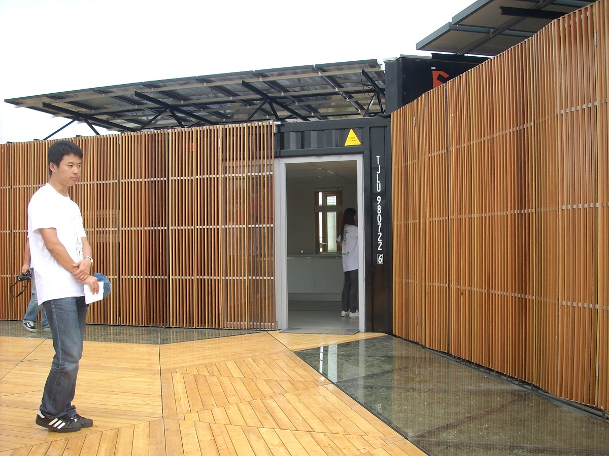 Team China (Tongji University) participated in the 2011 US Solar Decathlon . Their design utilized six recycled shipping containers.