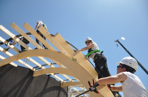 Building Team Sweden's Halo House at Datong Solar Village