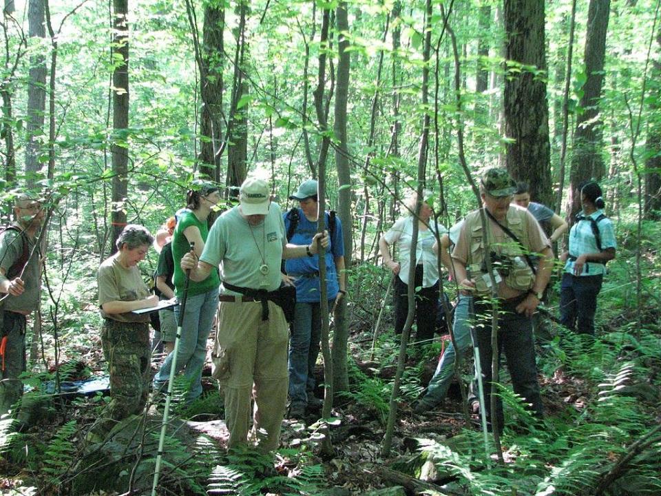 Fieldwork at Powder Mill Nature Reserve