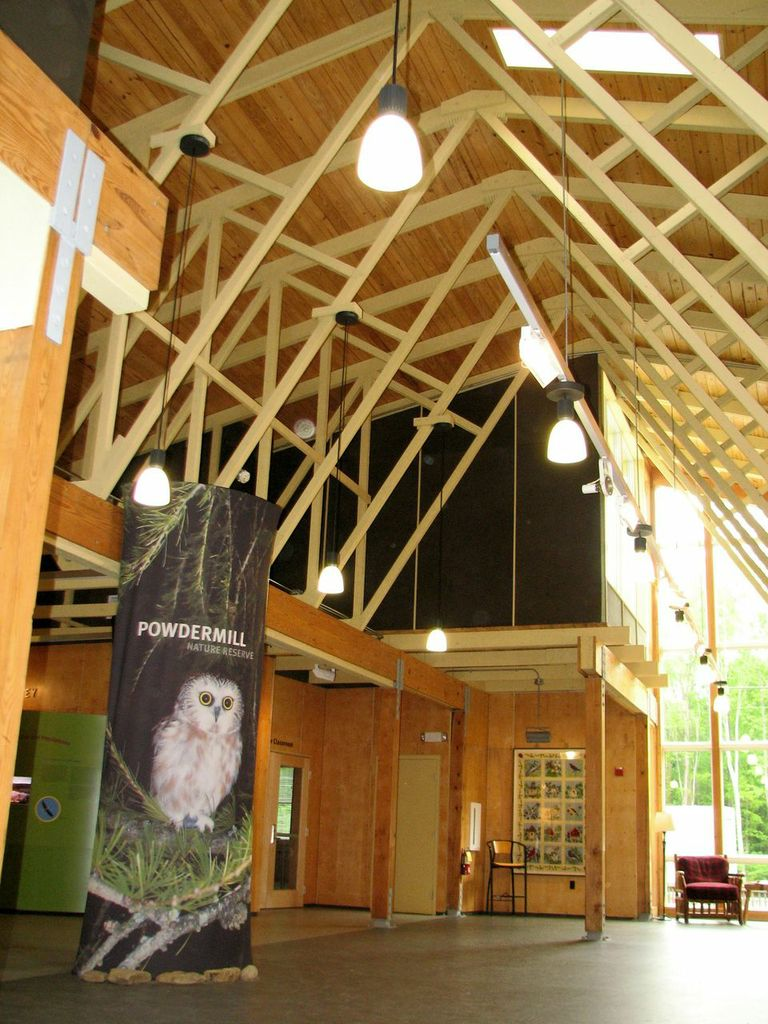 Interior of the renovated Nature Center at Powdermill. It is LEED Silver