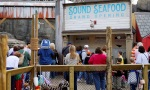 Water's Edge seafood Information booth