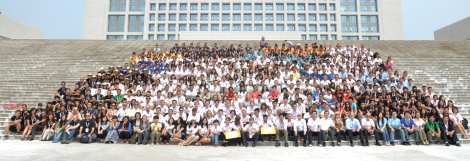 The future of sustainabilty! Teams assemble at Datong Solar Village for a group shot.