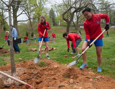 """Fieldwork"" by American University students (ranked #9). Photo courtesy of Jeff Watts."