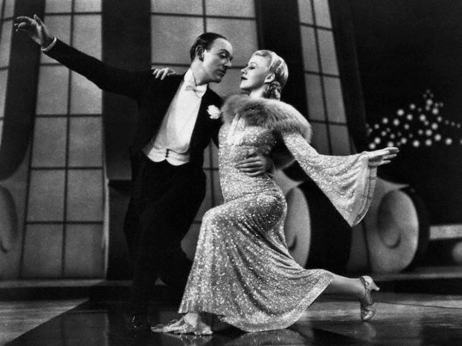 Fred Astaire and Ginger Rogers. Atomic Ballroom, rights reserved.