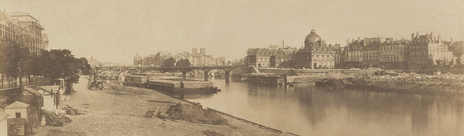 The Seine from the Pont du Carrousel Looking towards Notre Dame, 1853. Charles Marville. All rights reserved.