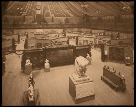 Original Armory Show installation 1913