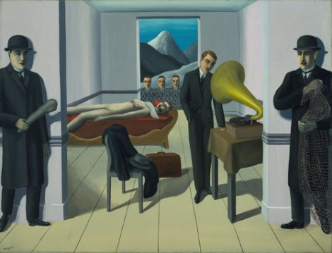 René Magritte. The Menaced Assassin. Brussels, 1927. The Museum of Modern Art. Kay Sage Tanguy Fund. © 2013 Charly Herscovici, Brussels/Artists Rights Society (ARS), New York