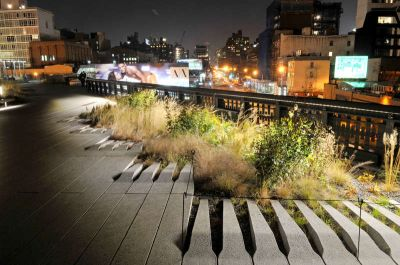 High Line at Night, Courtesy Parks Department, NY City Government