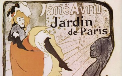 Jane Avril (Toulouse-Lautrec) performs the can