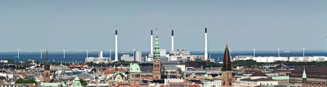 Copenhagen waterfront - check out the windpower