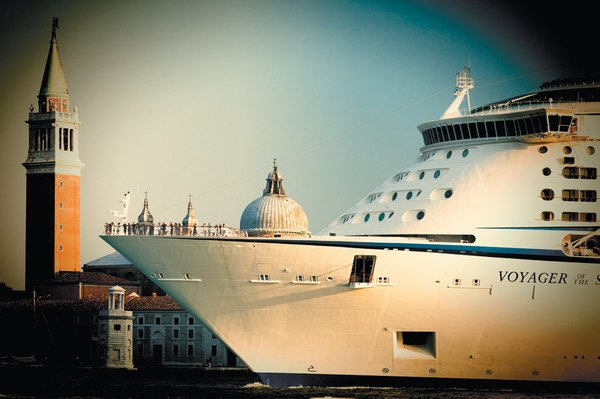 Cruise ship in front of St Marks Square Photo courtesy of Felipe Rodriguez