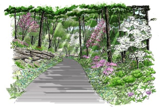 Entrance Road Rendering by MTR
