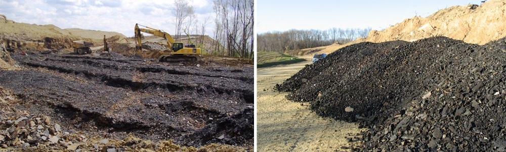 Reclamation work underway onReclamation work underway on the 72 acre mining parcel the 72 acre mining parcel