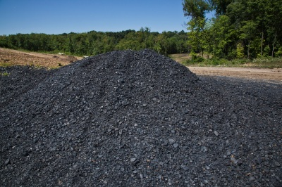 Coal extraction is part of the reclamation process
