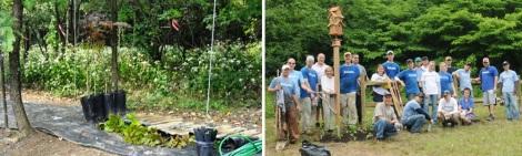 PBG volunteers are part of the planting crew