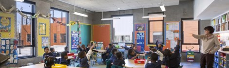 Look at all the natural light in the classroom. Courtesy of Rogers Partners