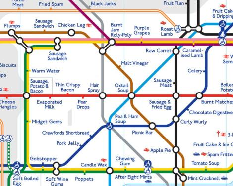 James Wannerton's synesthesia map of the LondonTube