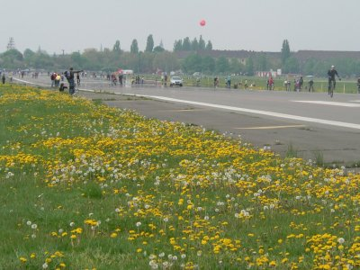 Tempelhof Park, at 900 acres the same size as NYC's Central Park Courtesy staedte-fotos.de