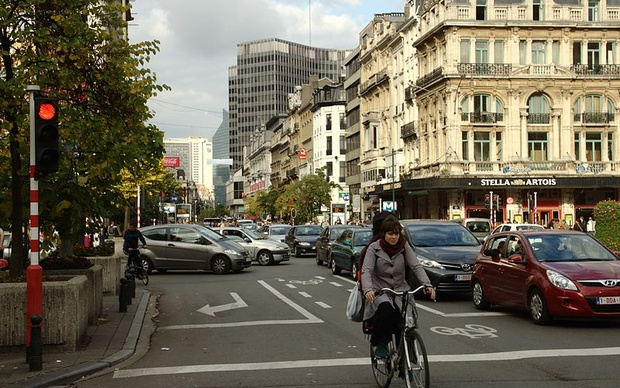 Brussels traffic. Courtesy of wikipedia commons