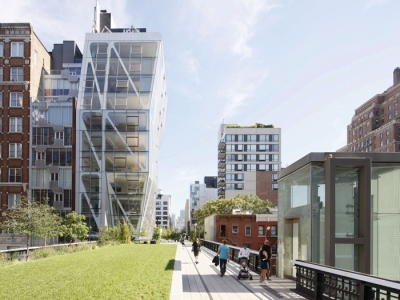 One of the High Line's four elevators provides access for all who cannot use the steps