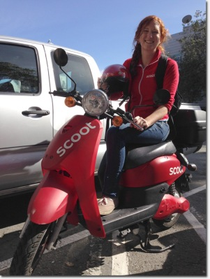 Scoot trainer Kelly. Courtesy of the Scoot Network