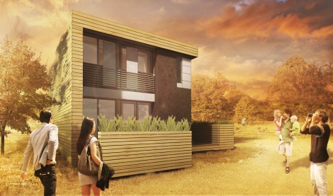 Front rendering of Maison Reciprocity