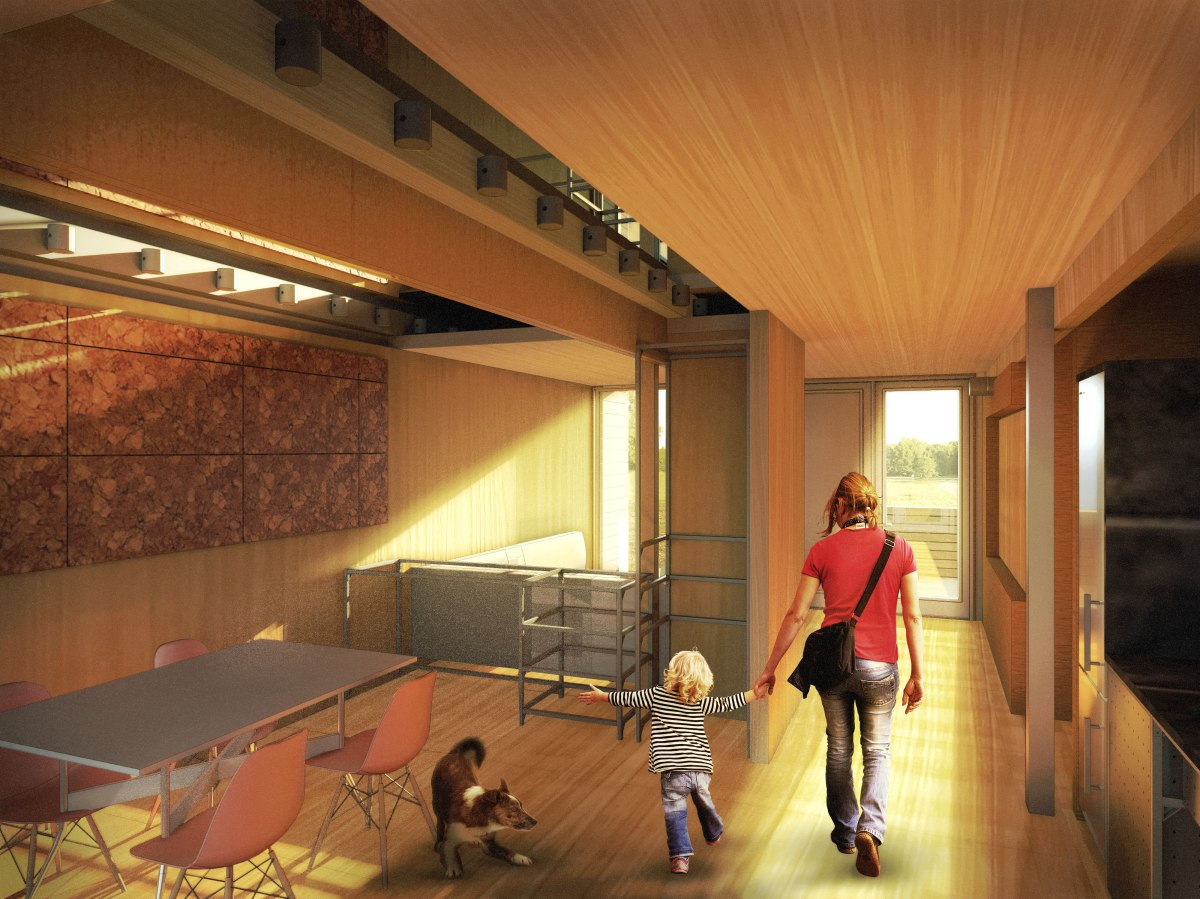 Rendering of interior/dining space