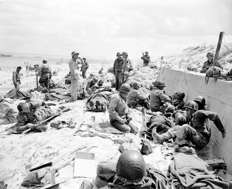 Wounded soldiers awaiting transport back to England. Courtesy of Herald-Post (heraldpost.com)