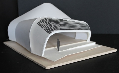 Maquette of Techstyle Haus Courtesy of Brown University