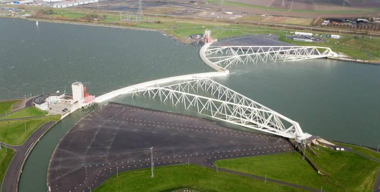 Maeslantkering barrier gates. Courtesy of holland.com