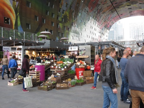 Produce happily spills onto the floor, but most stalls are self-contained
