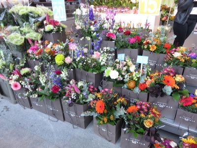 Freshcut flowers are made into ready-to-go bouquets