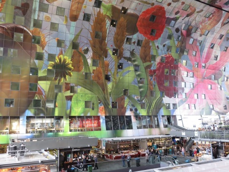 The interior artwork is a cornucopia of fruit, flowers, fish, butterflies and insects by Arno Coenen and Iris Roskam.