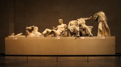 Elgin Marbles East Pediment Courtesy of Wiki Commons