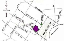 A schematic of the infamous Storyville District in New Orleans