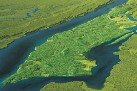 Modelling Manhattan in the days before settlement
